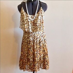 Cynthia Steffe Brown Silk Sundress